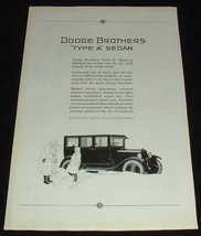 1923 Dodge Type A Sedan Ad, NICE!! - $14.99
