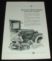 1923 Dodge Business Sedan Ad, Pointer Dog!!! - $14.99
