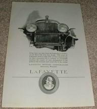 1923 Lafayette Car Ad, Love Fine Things!! - $14.99