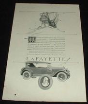 1923 Lafayette Car Ad, Pirate Ship Treasure!! - $14.99