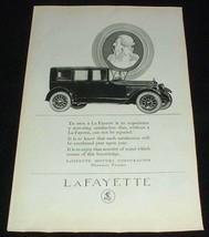 1923 Lafayette Car Ad, Motoring Satisfaction! - $14.99