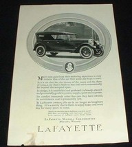1923 Lafayette Car Ad, Gain from Motoring!! - $14.99