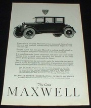 1923 Maxwell 4-passenger Coupe Ad, Immenseley Bettered! - $14.99