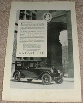 1923 Lafayette Car Ad, Previously Content!! - $14.99