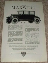 1923 Maxwell 4-passenger Coupe Ad - Push a Success!! - $14.99