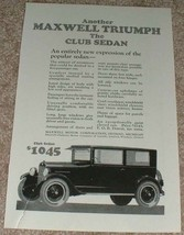 1923 Maxwell Club Sedan Car Ad - Another Triumph!! - $14.99