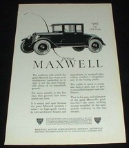 1923 Maxwell Club Coupe Car Ad - Swiftness!! - $14.99