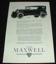 1923 Maxwell Touring Car Ad, No Car Faster or Farther! - $14.99