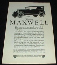 1923 Maxwell Touring Car Ad, Working Momentous Change!! - $14.99