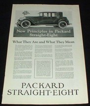 1923 Packard Straight Eight Car Ad - New Principles!! - $14.99
