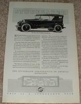 1923 Studebaker Big Six Touring Car Ad - $14.99