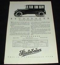 1923 Studebaker Four Door Sedan Car Ad, NICE!! - $14.99