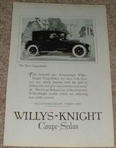 1923 Willys-Knight Coupe Sedan Car Ad - NICE!!! - $14.99