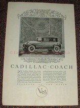 1925 Cadillac Coach V-63 Chassis Car Ad, NICE!! - $14.99