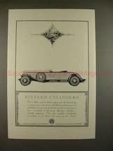 1930 Cadillac V-16 Car Ad - Sixteen Cylinders - NICE!! - $14.99