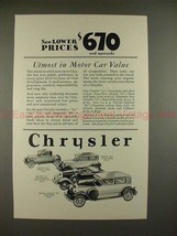 1928 Chrysler 62, 72 Sports Roadster, Imperial 80 Ad!! - $14.99