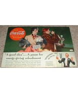 1936 Coke Coca-Cola Ad, A Pause For Energy Giving! - $14.99