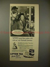 1946 Lipton Tea w/ Gertrude Lawrence - A Hit With Me!! - $14.99