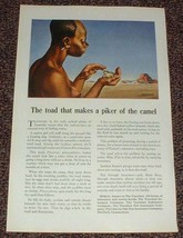 1946 Travelers Insurance Ad, Toad makes Piker of Camel! - $14.99