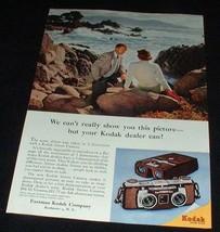 1956 Kodak Stereo Camera Ad, Ocean NICE!!! - $14.99
