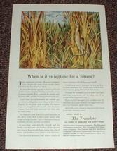 1948 Travelers Insurance Ad, American Bittern NICE!! - $14.99