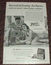 1948 Zenith Trans-Oceanic Radio Ad, Keep in Touch!! - $14.99