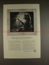 1949 Bell Telephone Ad w/ Switchboard Operator - NICE! - $14.99