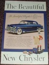 1949 Chrysler Silver Anniversary Model Car Ad, NICE!! - $14.99