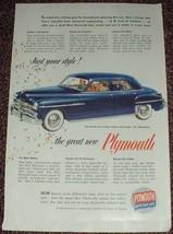 1949 Plymouth Special DeLuxe 4-door Sedan Ad! - $14.99