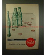 1952 Coke Coca-Cola Ad - Hospitality Can be So Easy!! - $14.99