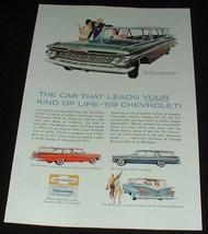 1959 Chevrolet Station Wagons Ad, 4 models!!! - $14.99
