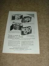 1955 Kodak Pony Bantam Retina Camera Ad!!! - $14.99