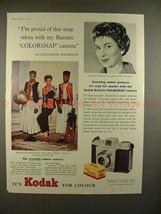 1957 Kodak Bantam Camera Ad w/ Jacqueline Mackenzie!! - $14.99