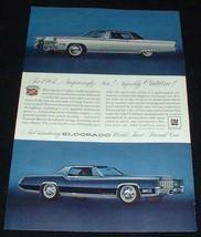 1967 Cadillac & Eldorado Ad, Superbly NICE!! - $14.99