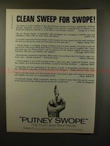 1969 Putney Swope Movie Ad - Clean Sweep for Swope!! - $14.99