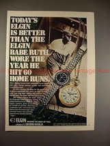 1970 Elgin 747 and Romantique Watch Ad, w/ Babe Ruth!! - $14.99