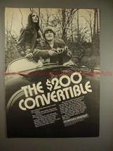 1970 Miranda Sensomat Camera Ad - The $200 Convertible! - $14.99