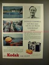 1959 Kodak Bantam Colorsnap Camera Ad - Donald Campbell - $14.99