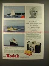 1959 Kodak Bantam Colorsnap Camera Ad w/ Uffa Fox!! - $14.99