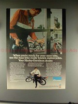 1976 Harley Davidson Motorcycle Ad, Ready for Next Bike - $14.99