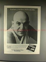 1976 Gillette Twinjector Ad w/ Telly Savalas - Cut Here - $14.99