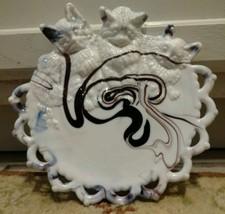"""Cat Plate Purple White Slag Swirl 3 Kittens 8"""" ... - $29.88"""