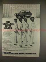 1979 Subaru 2-door Sedan Ad, w/ The Cadillacs!! - $14.99