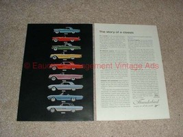 1963 Ford Thunderbird 2-page Ad - Models 1955-63 NICE!! - $14.99