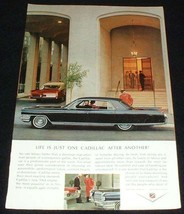 1964 Cadillac Car Ad, One After Another NICE! - $14.99