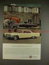 1965 Cadillac Ad w/ 1963 Sedan de Ville - Greatness!! - $14.99