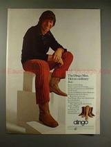 1970 Dingo Boots Ad w/ Joe Namath - The Dingo Man!! - $14.99