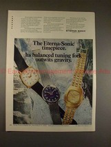 1970 Eterna-Sonic Watch Ad, Tuning Fork Outwit Gravity! - $14.99