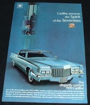 1970 Cadillac Ad, Spirit of the Seventies!!! - $14.99