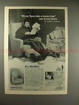 1970 Berkline Recliner Chair Ad w/ Sonny James!! - $14.99